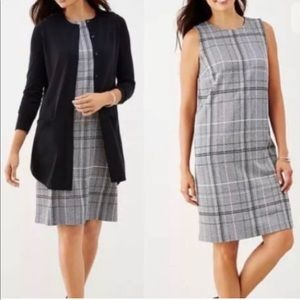J. Jill ponte knit jumper dress